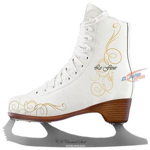 Коньки фигурные СК Le Fleur leather 50/50
