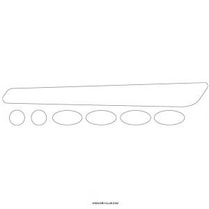 Защита пера BBB BikeSkin BBP-50, прозрачный