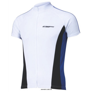 Веломайка мужская BBB ComfortFit jersey с коротким рукавом white-blue