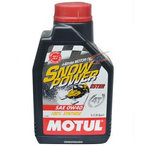 Масло моторное MOTUL Snowpower 4-х тактное SAE 0W40, 1 л.