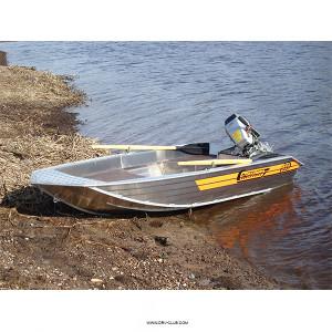 Алюминиевая моторная лодка Wellboat 33