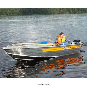 Алюминиевая моторная лодка Wellboat 46 румпельное управление